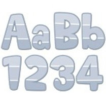 Slate Gray Paint Chip Classroom Letters  (0287)