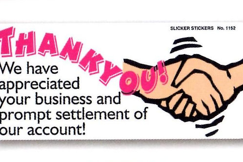 Prompt Settlement of our Account Stickers  (1152)