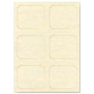 Sheet of 6 Natural Parchment Testa'mur with Gold Foil  (6225)
