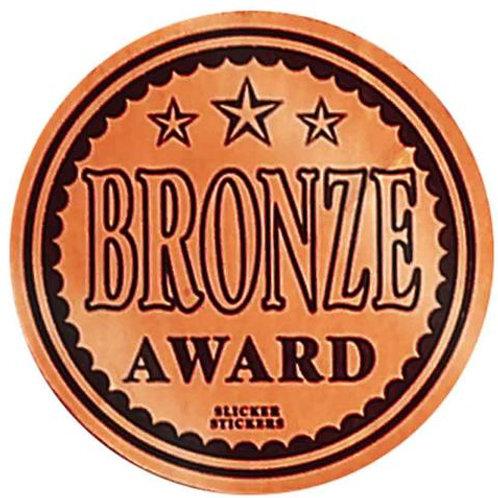 Bronze Award Metallic Stickers  (600)