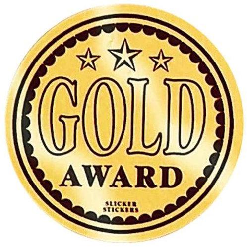 Gold Award Metallic Stickers  (598)