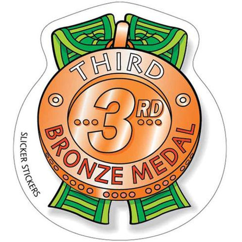 Third 3rd Place Bronze Medal Stickers  (263)
