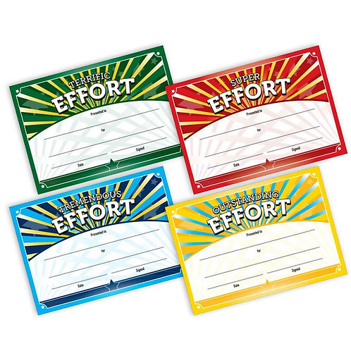 20pk Multi Pack Super Effort Certificates  (5871)