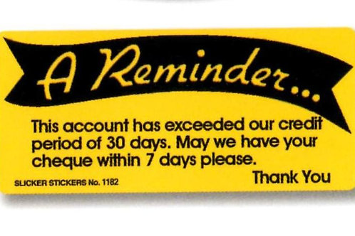 A Reminder Yellow Account Stickers  (1182)
