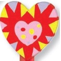 Heart Topper Eraser  (53026)