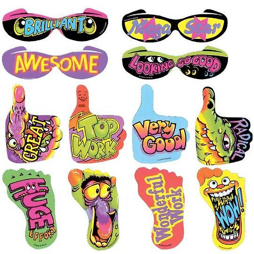 Glasses/Hands/Feet Multi Pack Stickers  (671)