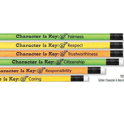 12pk Character is Key Pencils  (52123)