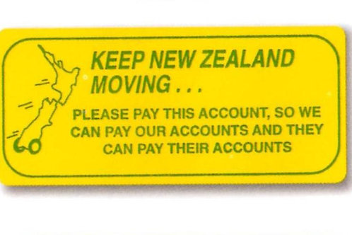 Keep New Zealand Moving Account Stickers  (1205)