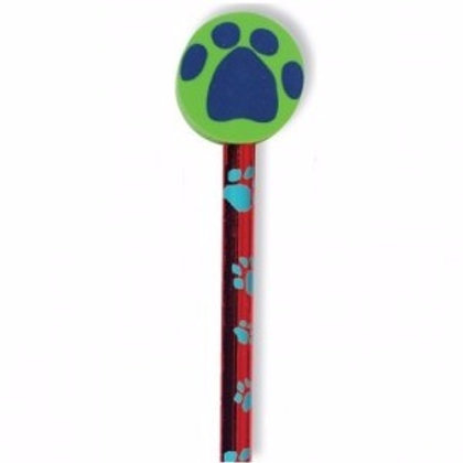 Paw Print Pencil with Eraser  (52957)