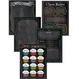 Classroom Chalkboard Poster Set  (4707)