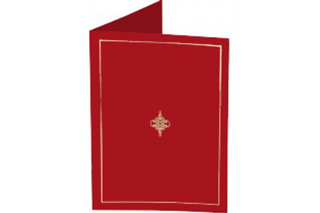 Red Presentation Covers with Gold Border  (PC06)