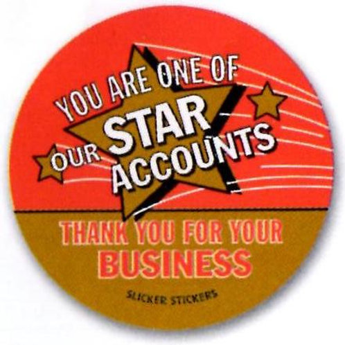 You are one of our Star Accounts Stickers  (1323)