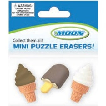 Mini Ice Cream Sweet Treats Erasers  (52429)