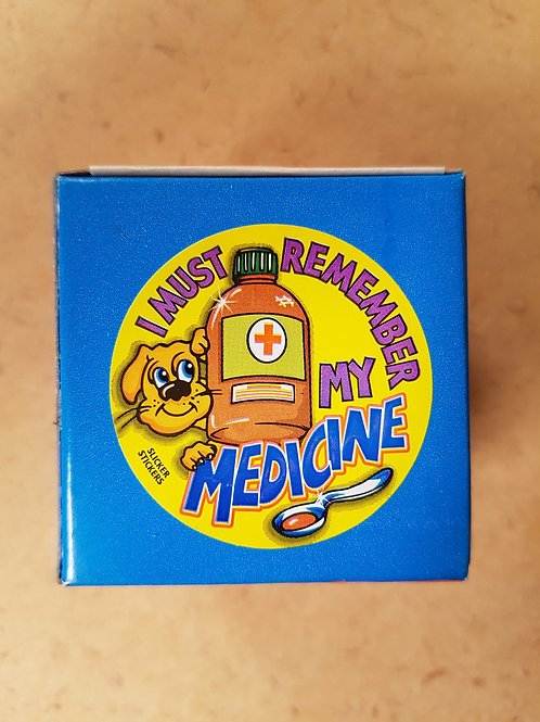I Must Remember My Medicine Stickers (29)
