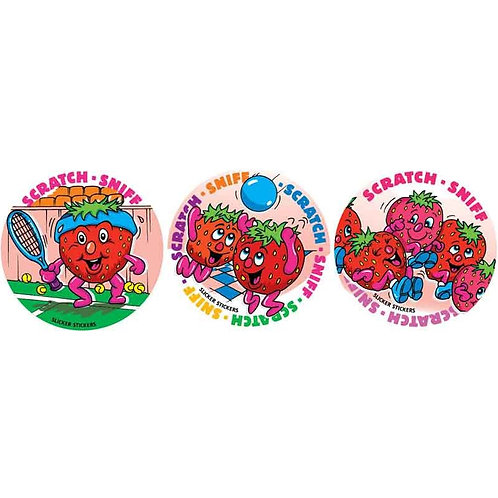 Scratch & Sniff Strawberry Multi Pack Stickers  (953)