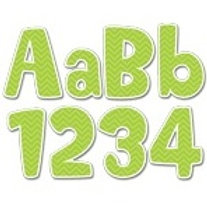 Lime Green Chevron Classroom Letters  (1945)