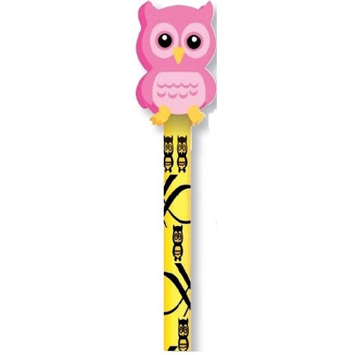 Yellow Owl Pencil with Pink Eraser  (53034)