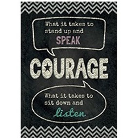 COURAGE Chalkboard Poster  (6678)
