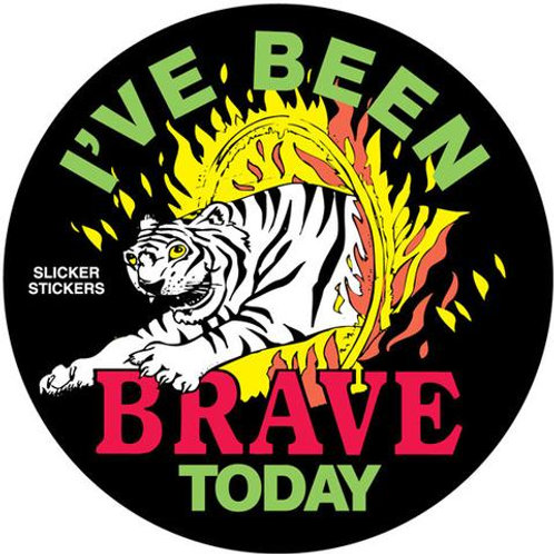 I've Been Brave Today Tiger Stickers  (3)