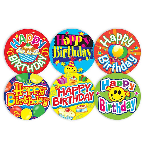 Happy Birthday Stickers Multipack  (554)
