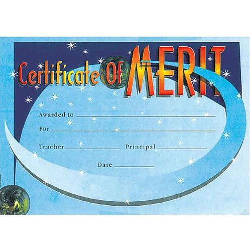 100pk Blue Certificate of Merit Certificate  (5832)