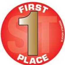 First Place Stickers  (640)