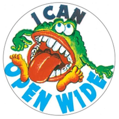 I can Open Wide Stickers  (12)