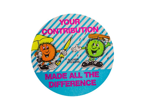 Your Contribution made all the Difference Stickers  (F15)