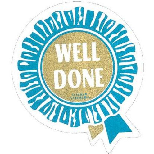 Well Done Metallic Rosette Stickers  (220)