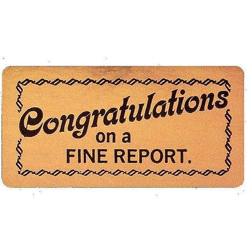 Congratulations Report Metallic Stickers  (585)