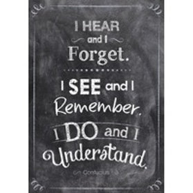 I Hear, I See, I Do Chalkboard Poster  (6750)
