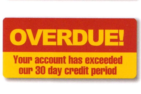 Overdue 30 day Account Stickers  (1273)