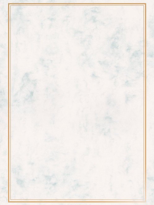 A4 Grey Marble Testa'mur with Gold Foil Border  (5233)