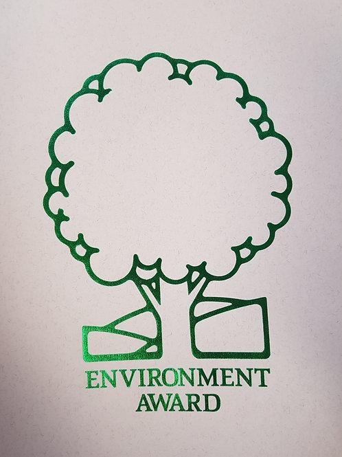 Environment Award Testa'mur with Green Foil  (7030)