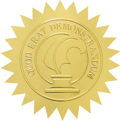50mm Gold Certificate Seal  (S0701)