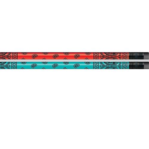 12pk Bandana Pencils  (52197)