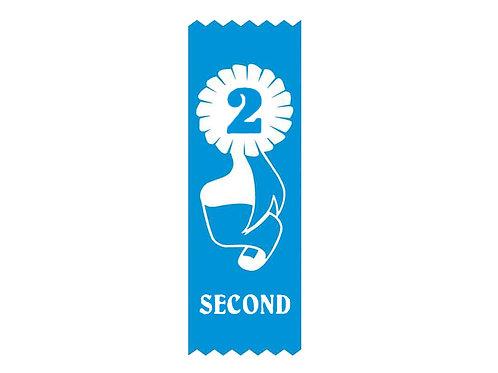 20pk Second Place Vinyl Ribbon  (S2)