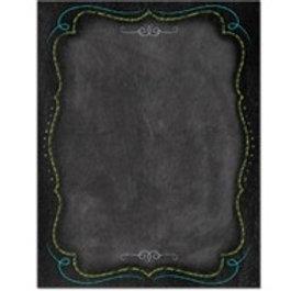 Blank Chalkboard Framed Chart  (1023)