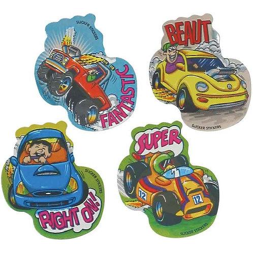 Racing Car Metallic Multi Pack Stickers  (710)