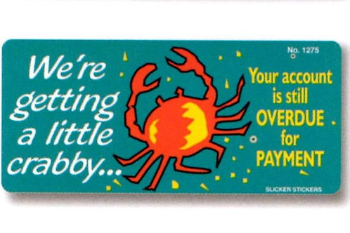 We're getting a bit crabby Account Stickers  (1275)