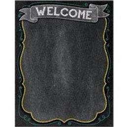 Welcome Chalkboard Chart  (1018)