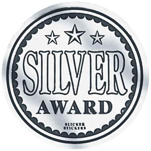 Silver Award Metallic Stickers  (599)