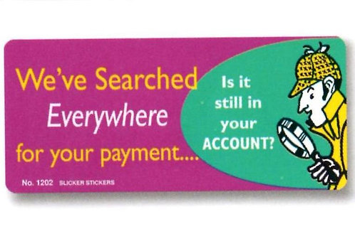 We've searched everywhere for our Payment Stickers  (1202)