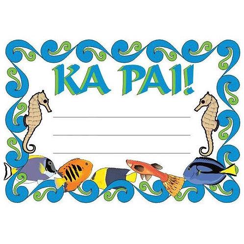 20pk Ka Pai Maori Certificates  (228107)