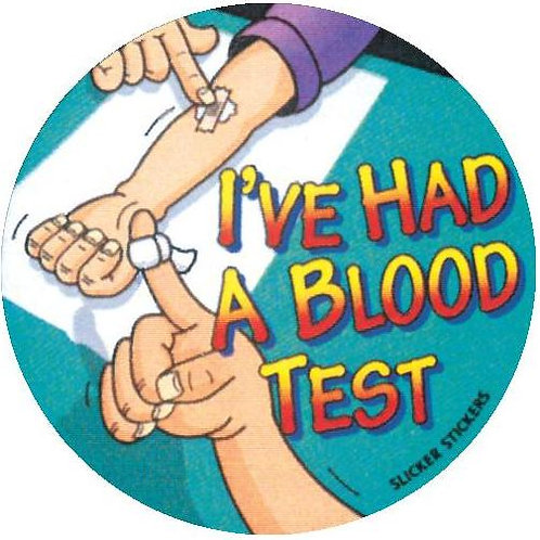 I've had a Blood Test Stickers  (32)