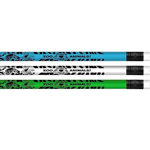 12pk Zoo Animals Pencils  (52084)