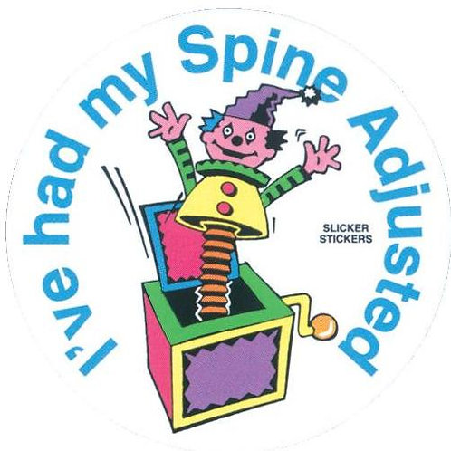 I've had my Spine Adjusted Stickers  (35)