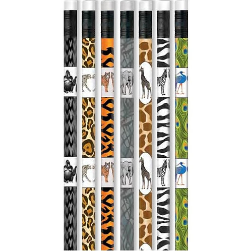 12pk Zoo Animals Pencils  (52207)