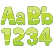 Lime Green Paint Chip Classroom Letters  (0283)