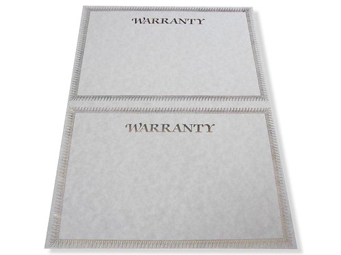 A4 Double Warranty Testa'mur with Gold Foil  (2503)
